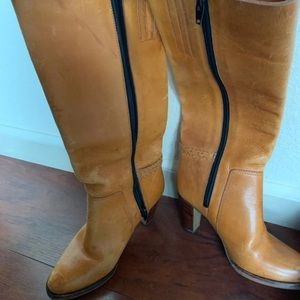 Shoes - Vintage Tall Leather Boots With New Soles